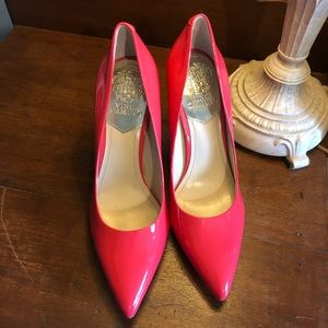 Vince Camuto Hot Pink Patent Leather Pumps